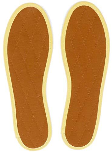 Japanwelt Les Tongs Semelles de cannelle en velours matelassé naturel fait à la main Unisexe en différentes tailles 35 à 48 EU Marron - Marron - marron, 35 EU