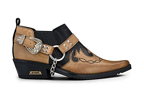 Infinity Leather Herrenschuhe Krokodilleder Imitat Echtleder Cowboy Tanzen Schuhe Biker Design