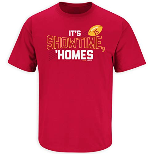 Nalie Sports KC Football Fans. It's Show Time Homes Red T-Shirt (Sm-5X) (Short Sleeve, 4XL)