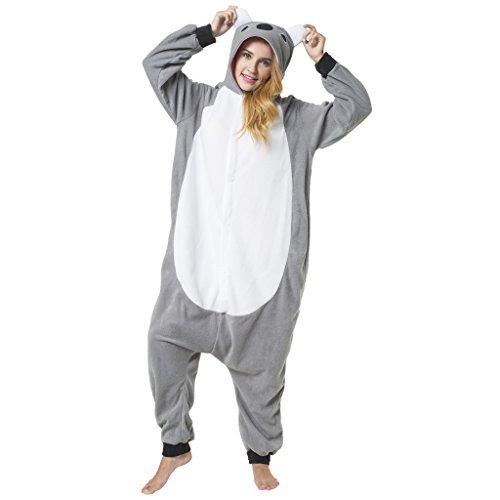 Katara 1744 - Koala Kostüm-Anzug Onesie/Jumpsuit Einteiler Body für Erwachsene Damen Herren als Pyjama oder Schlafanzug Unisex - viele Verschiedene Tiere