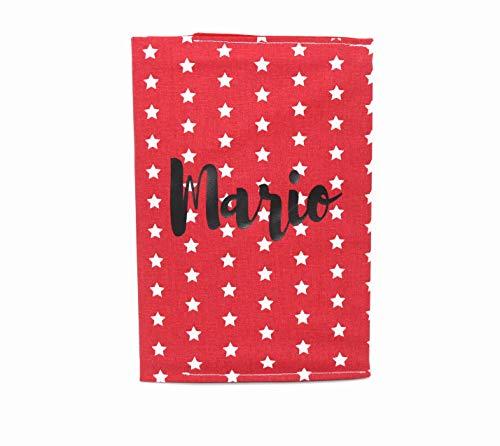 Portadocumentos para bebé rojo estrellas personalizado