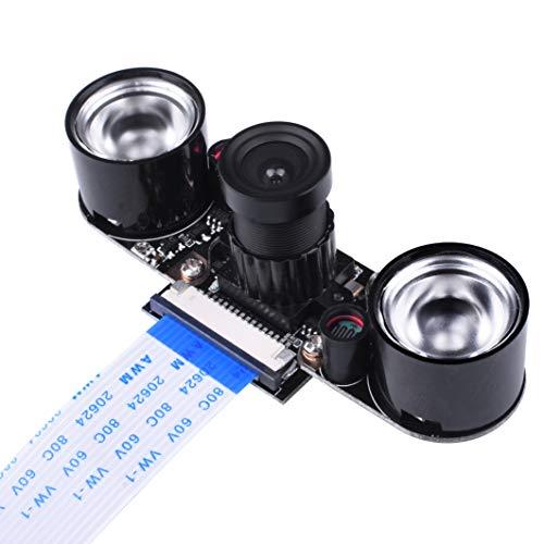kuman Raspberry Pi 4 3B+ Model B B+ A+ RPi Kamera Modul IR Filter, Tages- und nachtsichttaugliches Kamera Modul für alle Raspberry Pi Modelle SC15