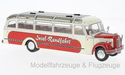 Borgward IXOBUS014 BO 4000, Beige Rot, 1952, 1 43 IXO