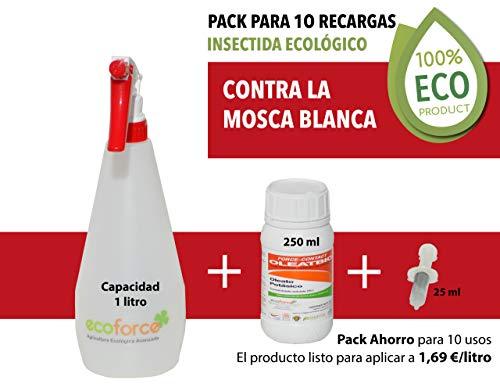 CULTIVERS Insecticida contra La Mosca Blanca Ecológico de 250 ml Especial para Plantas de Interior y Exterior. Elimina Las Plagas Acción por Contacto