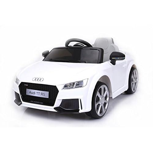 RIRICAR Audi TT RS, Blanco, Licencia Original, Batería accionada, Puertas de la