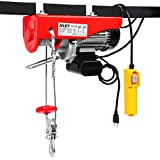 Goplus 1320LBS Lift Electric Hoist Crane Remote Control Power System, Carbon Steel Wire Overhead Crane Garage Ceiling Pulley Winch w/Emergency Stop Switch, UL Approval