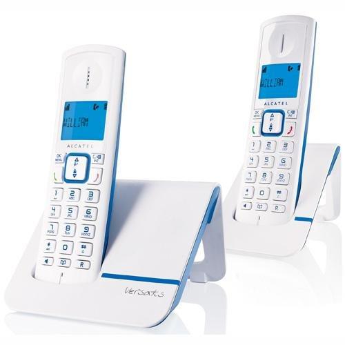 Alcatel Versatis F230 Duo Schnurlostelefon mit 2 Mobilteilen blau