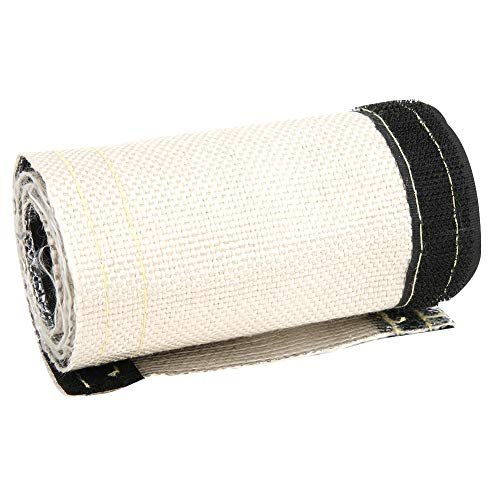 Ruspela Fuel Line - Cubierta de manguera de alambre aislada con protección térmica (600 x 106 mm), color blanco