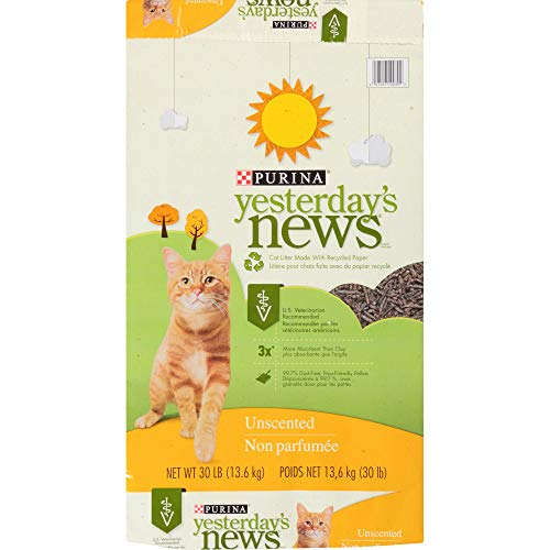 Purina Yesterday News Unscented Paper Cat Litter