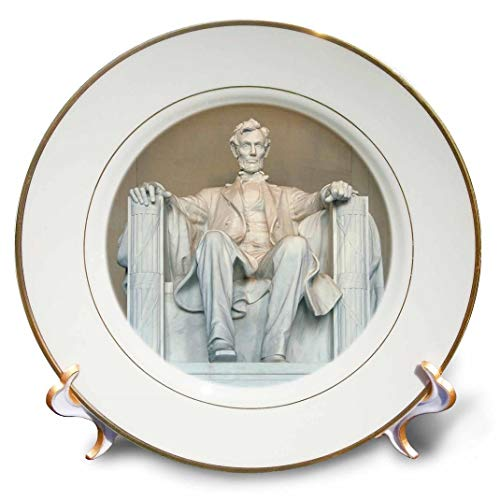 3dRose CP 88995 _ 1 Abraham Lincoln Memorial, Washington dc-us09 rkl0011-raymond klass-Porcelain Teller, 20,3 cm