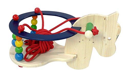 Hess Mobile en bois pour enfant jouet Cheval balançoire avec barres de protection