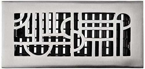 Decor Grates 5,1cm da 30,5cm Art Deco aluminum nickel Floor register, ADA410-NKL