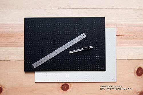 ミワックスカッティングマット450x300mmブラックMX-A3-B