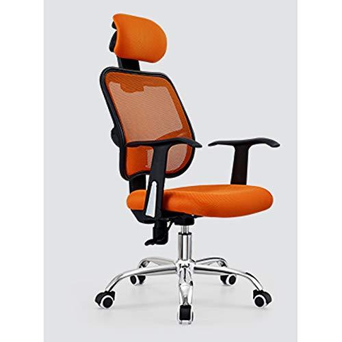 DJDLLZY Sedia da ufficio Sedia ergonomica for scrivania, con schienale alto regolabile Poggiatesta Computer sedia Mesh traspirante poltrona direzionale con supporto lombare e sollevare bracciolo sedia