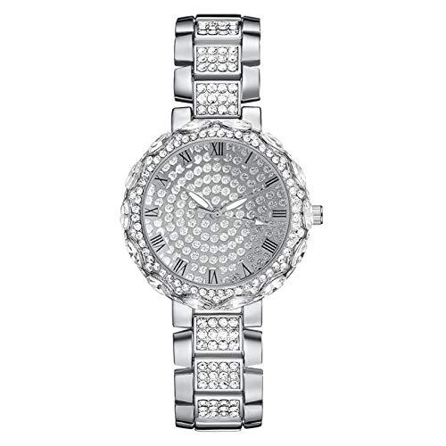 Los relojes de las mujeres con diamantes y diamantes de imitación están llenos de diamantes, mujeres de moda y de moda, mujeres y relojes de niñas, relojes casuales de damas llenas de damas de oro rum