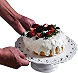 JINXIU Alzata per Torta con Cop Tondo Cassetto del Dessert Set Decoration Cake Dessert Vassoio del Banco di Mostra Compleanno di Cerimonia Nuziale Freddo Pasto Afternoon Tea Break Impostazione