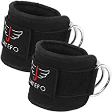 Jayefo Ankle Straps Padded for Cable Machine Attachment Leg Kickback Pulley Workout Pair Ankle Cuffs for Hips Hamstrings Quads Abs Glutes Workout for Women & Men Adjustable. (Black)
