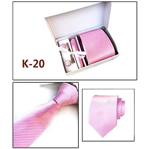 6 unids hombres negocios corbata gemelos pañuelo clip set regalo de San Valentín geométrico Jacquard boda fiesta accesorios multicolor corbata clips para hombres