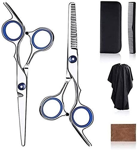 GRX-ZNLJT 10 Stks Haar Schaar Set Kappers Schaar Kit, Haarsnijden Schaar met Haar Mantel Kam Professionele Dunner Schaar Thuis Salon Gereedschap voor Barber Salon en Thuis