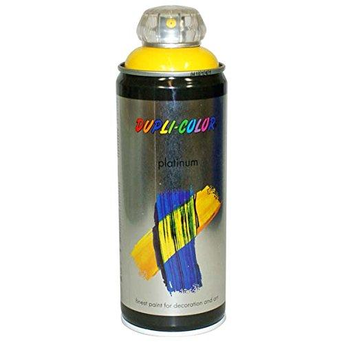 Duplicolor 720970 Spray Platinum 400ml Jaune Circulation Brillant, Traffic Yellow Shiny