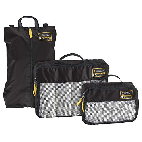 Eagle Creek National Geographic Adventure Essential Packing Set, Black, One Size