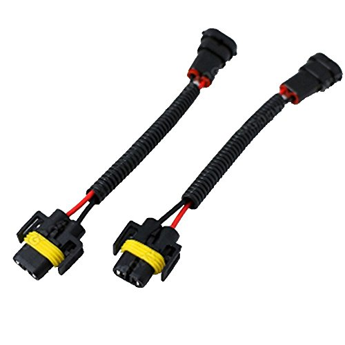 MUYI 2Pcs H11 H8 Extension Wiring Harness Male and Female Connector Pigtail Socket Adapter for Headlight Fog Light