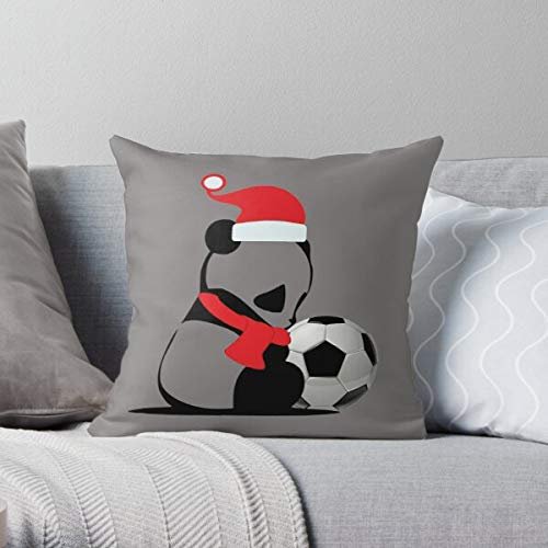 Fr75en Niedlicher Kissenbezug für Mädchen und Damen, Motiv: Panda, Fußball-Geschenk