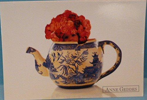 Postkarte, Anne Geddes, Alte Teekanne, 10 x 15 cm