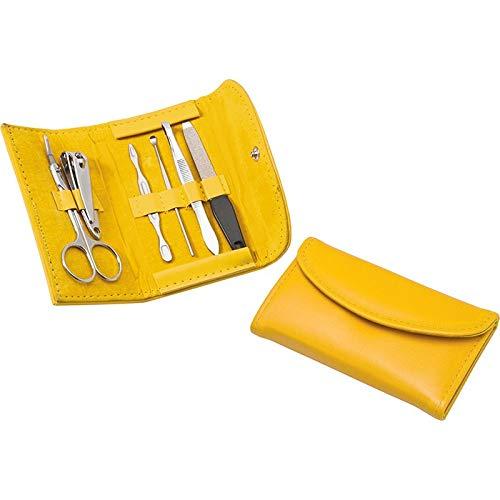 Set manicure da borsa (6 pezzi) in borsellino ecopelle giallo