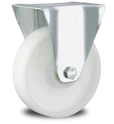 Rolle Bockrolle 80mm Lenkrolle Transportrolle Laufrolle weiß Kunststoff Plastikrolle (Bockrolle 80 mm)