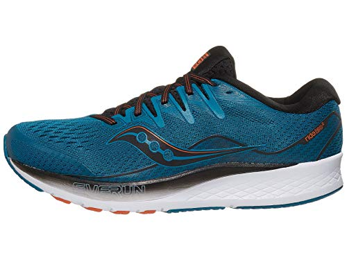 Saucony Ride ISO 2 Men's Running Shoes, Black/Blue, 10.5