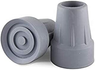 Crutch Tips,Replacement Medical Drive Cane Tips,7/8 Inch,2 Pack, Gray