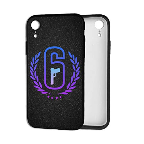 Snanna Rainbow Six Siege Case for iPhone Xr Series Soft TPU Cover Skin Protective Uv Printed Phone Case Full Protection Phone Cover One Size