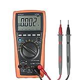 LXGANG lMultímetro digital VC99 del multímetro digital de rango automático 80000 conde probador del voltímetro de CA Resistencia Tester Digital amperímetro capacitancia del diodo Digital Tester multif