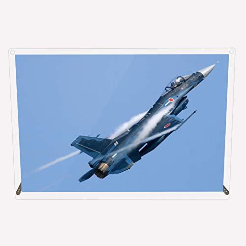 CuVery アクリル プレート 写真 航空自衛隊 戦闘機 F-2A デザイン スタンド 壁掛け 両用 約A3サイズ