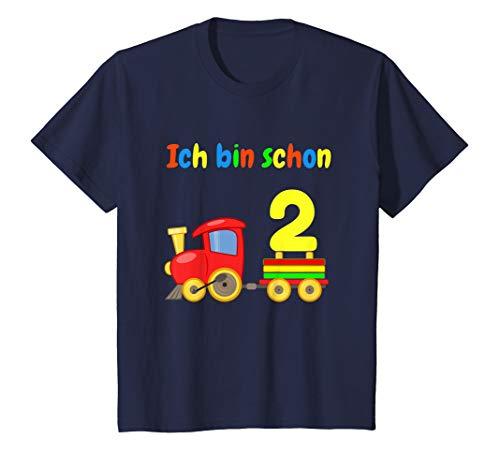 Kinder Geburtstagsshirt 2 Jahre Junge Eisenbahn Ich bin schon 2 T-Shirt