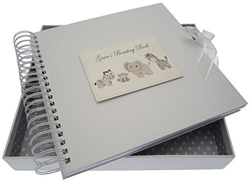 White Cotton Cards Argent Jouets Gran S Boasting carte et livre de mémoire