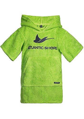 Atlantic Shore | Surf Poncho ➤ Bademantel/Umziehhilfe aus hochwertiger Baumwolle ➤ für Kids/Kinder ➤ Green - Short