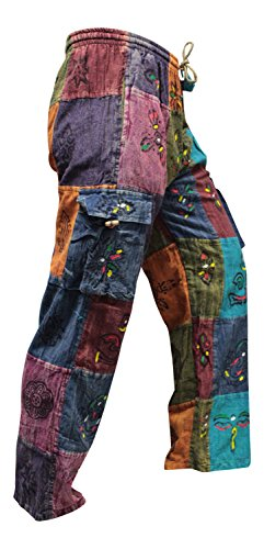 Shopoholic Fashion - Pantalones estilo hippy festival de verano, unise