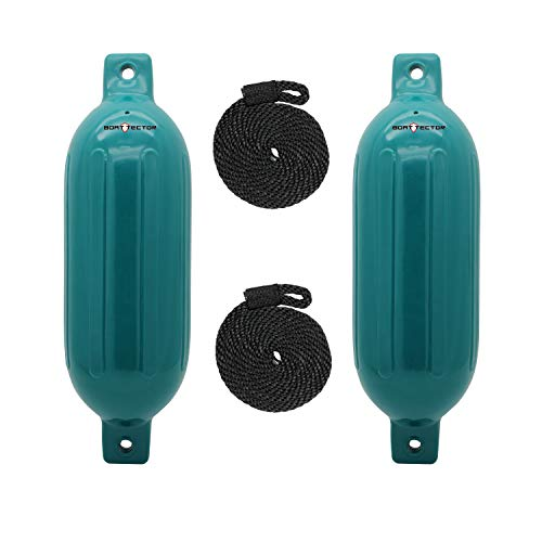 Extreme Max Standard 3006.7593 BoatTector Inflatable Fender Value 2-Pack-6.5' x 22', Teal
