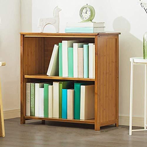 Libreros ZYF con 2 niveles de ancho bajo y ancho de bambú para almacenamiento de la oficina, estantería pequeña para muebles de salón, pasillo, estantes de cocina (tamaño : 70 cm de longitud)