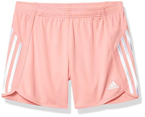 addias Girls' Big Active Sports Athletic Shorts, Mesh Light Pink, X-Large