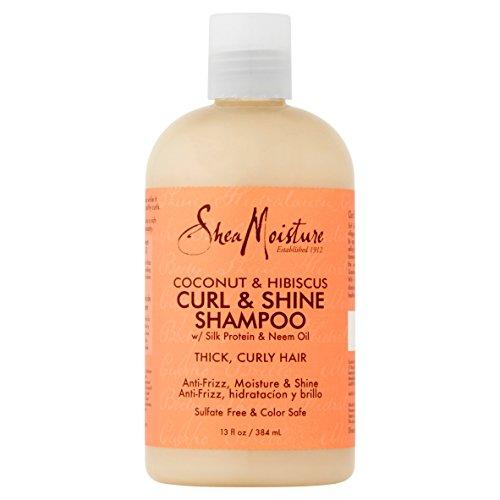 Shea Moisture Coconut & Hibiscus Shampoo 13 Ounce (384ml) (3 Pack)