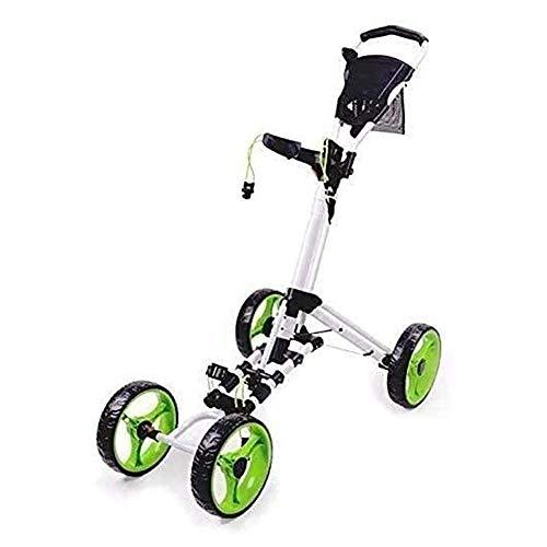 Carrito de golf junior Carrito de golf de 4 ruedas, carrito de golf plegable para empujar / tirar con freno de pie, carritos de golf livianos, un segundo para abrir y cerrar carrito plegable Equipo de