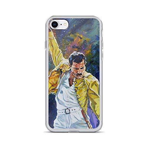 Freddie Mercury Voice Queen Arts Rock Music Compatible con iPhone 12/12Pro MAX 12 Mini 11 Pro MAX XR XS/XsMax SE 2020 7 8 6/6s Plus Samsung Series Funda Protectora