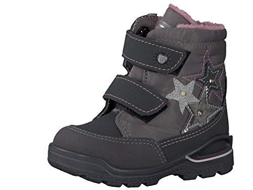 RICOSTA Pepino Mädchen Winterstiefel Maddy, WMS: Mittel, wasserfest, Winter-Boots Outdoor-Kinderschuhe warm Kind-er,Grigio/Patina,25 EU / 7.5 UK