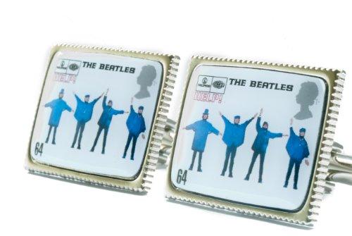 Beatles helfen Briefmarke Abdeckung Manschettenknöpfe