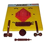 Master Arts Wooden Acupressure Foot Mat for Stress and Pain Relief with Tools