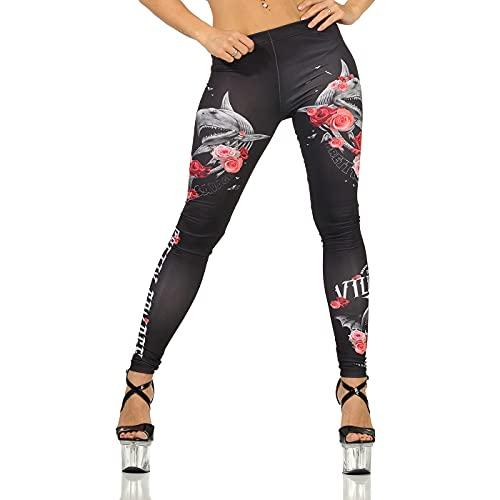 Yakuza Premium Damen Leggings GL 3166 schwarz M