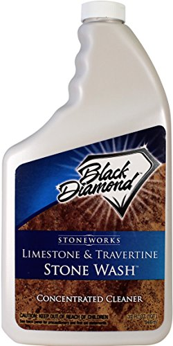 Black Diamond Stoneworks Limestone and Travertine Floor Cleaner: Natural Stone, Marble, Slate, Polished Concrete, honed or tumbled surfaces. Concentrated Ph. Neutral. (1-Quart)